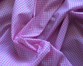 High quality Gingham polycotton poplin. Pink no14