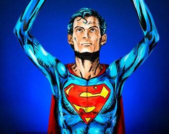 Superman Bodypaint 8.5x11 Print