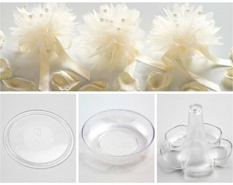 Base Discs Dishes Bomboniere Tulle Nets Wedding Favour Anniversary Christening