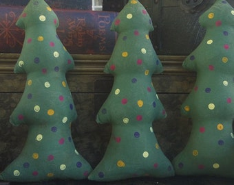 Primitive Christmas Trees Shelf Sitters Bowl Fillers