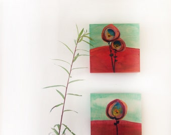 Small flora X & XI (diptych)