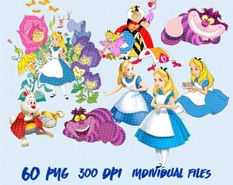 Alice in Wonderland Clipart Images Digital Clip Art Instant Download Graphics