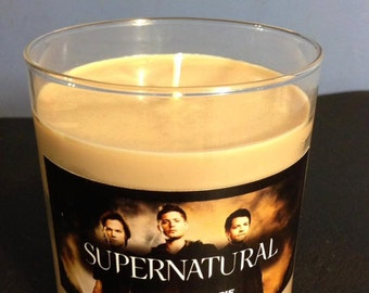 22 oz Supernatural Candle Deans Apple Pie Scented 100% soy with mystery gift inside!