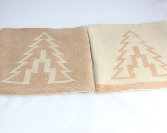 Camp Blanket Tree Pillow Cover