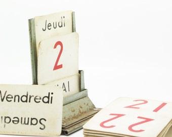 Antique French Desk Top Calendar