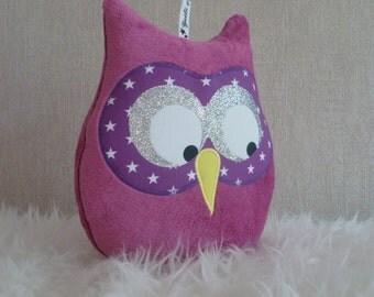Lilac musical OWL cushion