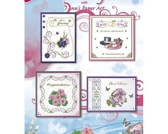 Book leaves 8 cards embroidery patterns 3D embroidery 24