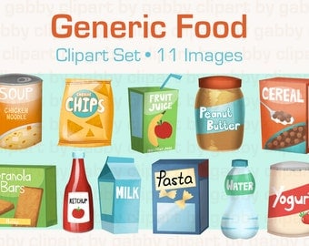 Generic Food Clipart, Clip art
