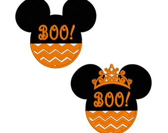 2 Machine Embroidery Designs Minnie and Mickey Mouse