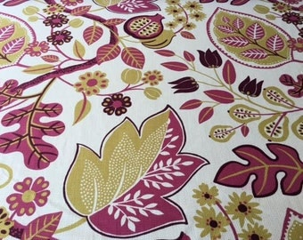 P.Kaufmann Fabric floral and leaf pink and yellow fabric -  by the YARD!