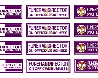 1:25 G scale model toy car automobile funeral director window placard