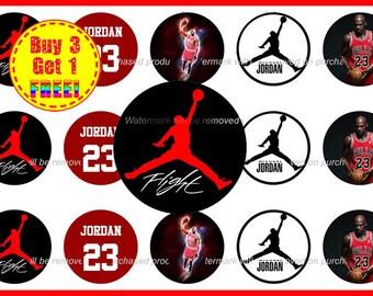 Michael Jordan Bottle Cap Images - Heat Bottle Cap Images - Instant Download - High Resolution Images - Buy 3 Get 1 FREE