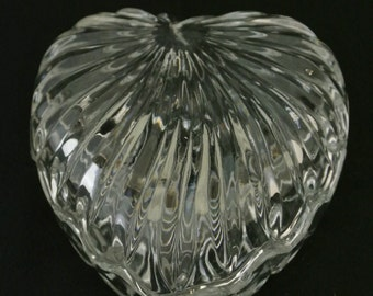 Zajecar Cut Lead Crystal Heart Box 24% Pb0