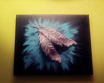 8 x 10 feather painting