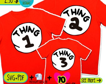 thing 1 and thing 2  stickers printable iron on transfer designs Receive Microsoft Word editable SVG PDF PNG images instantly
