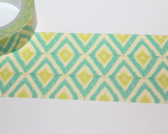 Green tribal masking tape sample