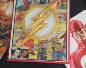 The Flash symbol string art