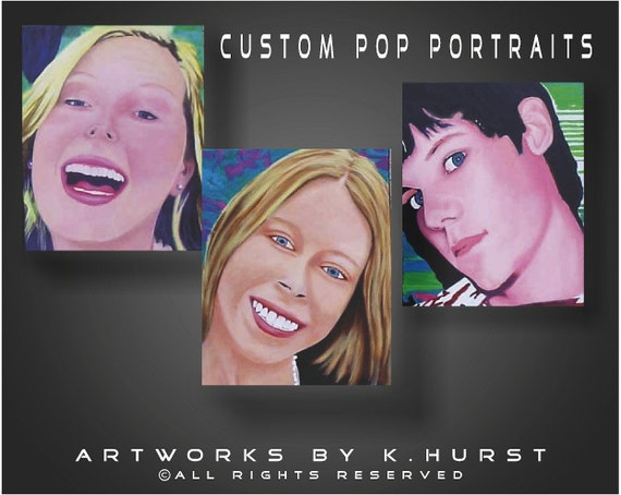 Custom Colorful Painted Pop Portrait from your photos