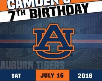 Auburn Football Party Invitation
