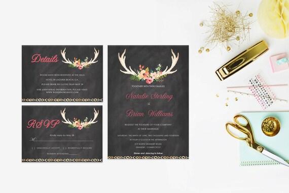 Floral wedding invite word_49,INSTANT DOWNLOAD, Editable Wedding template invitation. Microsoft Word template.Wedding Printable