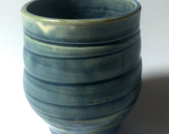 Small Hand Thrown Cup With Homemade Crystal Glaze. #4