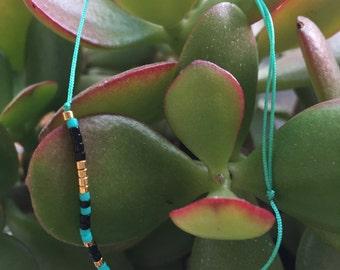 Bracelet links sliding beads miyuki