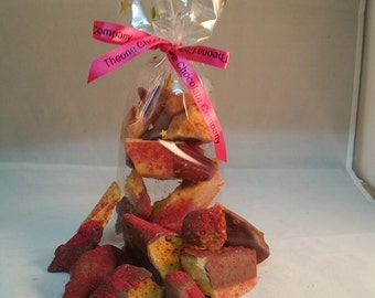 Hand Made Belgian Chocolate Dipped Raspberry Honeycomb