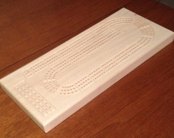 Cribbage Board- Personalized Cribbage Board- Unique Cribbage Board- Rectangular Cribbage Board- 14 inches by 6 inches