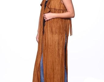apache long vest