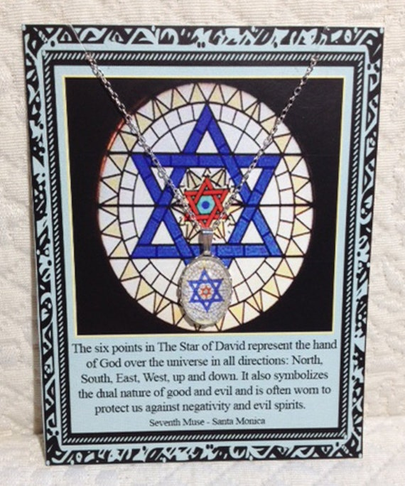 Star of David Charm Necklace on Story Card