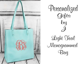 Monogrammed Handbag, Personalized Faux Leather Purse, Gifts for Her, Christmas Gift, Embroidered Tote Bag, Monogram Tote