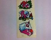 Vintage Unicorn sticker set 80s