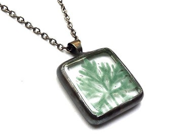 Nature Fused glass pendant