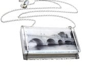 Glass Bridge Necklace, Pont Neuf Necklace, Photo Necklace, Photo Jewelry, Unique Necklace, Paris Jewelry, Bridge Jewelry, Tracy Antonik