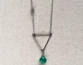 Medium Triangle Necklace in Silver