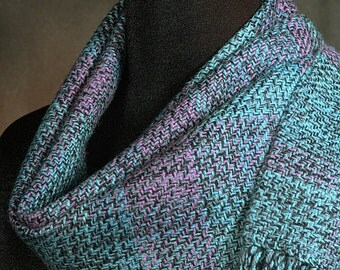 Handwoven merino wool winter scarf