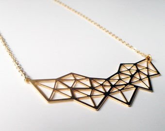Fascial Matrix, Necklace in Gold