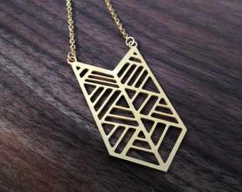 All the Right Angles, Necklace in Gold