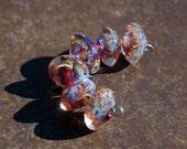 Carnevale - Handmade Lampwork Glass Bicone Beads - SRA Elasia - MTO