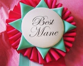 First Place Kentucky Derby Ribbon Customized 3 Inch Laminated Personalized Badge