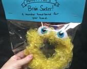 Brain Sucker Monster Headband (wide) Yellow