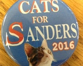 Tabby Cats for Bernie Sanders - President button