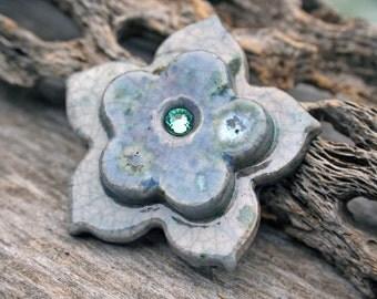 Handmade RAKU Shank Button