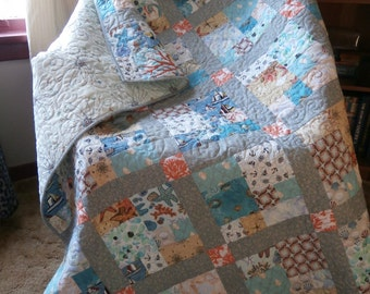 Quiltsy Destash Party - CityScape Modern Quilt Pattern PDF File Instant Download beginners pattern great for fat quarters