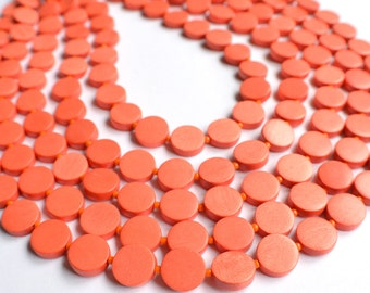 The Charlotte- Orange Wood Statement Necklace