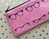 Planner Accessories - Cats eye glasses - Pencil Case - Pen Pouch - Pencil Case - Pen Case