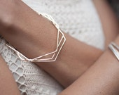 14k gold hexagon bangle, eco friendly, bracelet, handmade