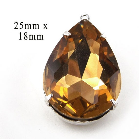 golden smoky topaz teardrop pendant