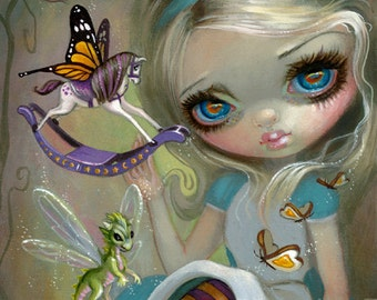 Looking Glass Insects alice in wonderland art print by Jasmine Becket-Griffith 8x10 alice through the looking glass butterfly horsefly