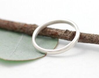 Simplicity Wedding Ring - Palladium Sterling Silver Wedding Band - 2mm - made to order wedding ring in recycled metal